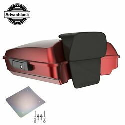 Hard Candy Hot Rod Red Flake Razor Tour Pack Trunk Luggage Fit 1997-2020 Harley