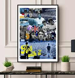Oasis History Limited Edition Print Wall Poster Noel Liam Gallagher Gift Artwork