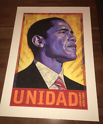 Barack Obama Unidad Print Signed And Numbered Rafael Lopez 44th President Poster
