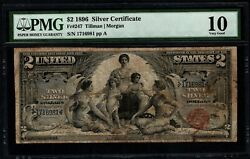 1896 2 Silver Certificate Educational Note Pmg 10 Fr.247 Item 5013768-009
