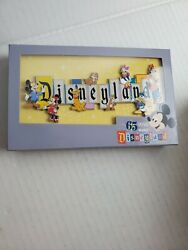 In Hand Disneyland Park 65th Anniversary Marquee Boxed Jumbo Pin Limited 1000
