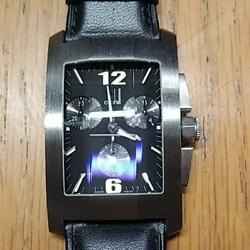 Dunhill Dunhillion Chronograph 50m Stainless Steel Quartz Rectangle Menand039s Watch