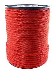 Red Quality Double Braid On Braid Polyester Mooring Yacht Marine Rope