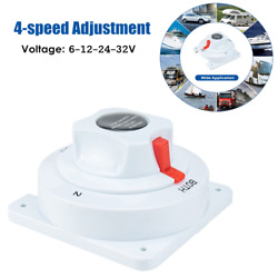 4-speed Adjustment Boat Dual Battery Selector Switch Disconnect Power Cut Off On