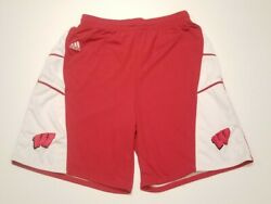Adidas Wisconsin Badgers Authentic Game Shorts 2006 Big 10 Basketball