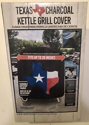 """New In Box Texas Charcoal Kettle Grill Cover For 28"""" Kettle Grills"""