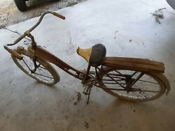 Vintage Hiawtha Bicycle Old Antique Bike Project Rims Frame 26 As Found Used