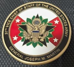 Us Army 37th Vice Chief Of Staff Of The Army General Joseph M Martin Challenge C