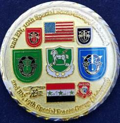 Us Army 2/10th Sfg A 2/19th Sfg A Fob Central Baghdad Oif Awarded In Combat