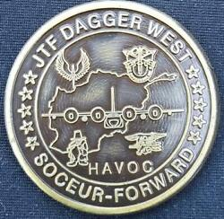 Ultra Rare Afsoc Tf Dagger West 7th Sos Oef Deployment Challenge Coin