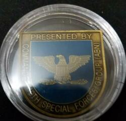 Us Army 19th Sfg A 19th Special Forces Group Commanders Challenge Coin
