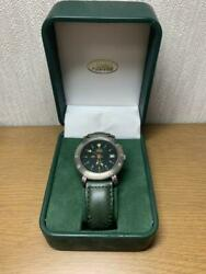 Land Rover Combintion Quartz Watch Green Dial Band Vintage Menand039s