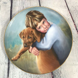 The Golden Puppy Collector Plate By Nancy A. Noel - Vintage 1986 / Hamilton