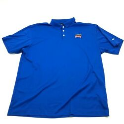 Nike Golf Dry Fit Polo Simpson Strongtie Shirt Men's Size Xxl 2xl Blue Loose Fit
