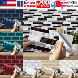 Up to 54PCS Self Adhesive Mosaic Tile Sticker Kitchen Bathroom Wall Stickers US