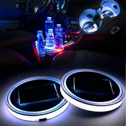 68mm Interior Water Coaster White Led Light Solar Charger Cup Holder Mat Euro Bm
