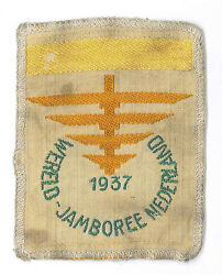 1937 World Scout Jamboree Official Participants Subcamp I Yellow Bar Patch