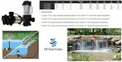 New Water Fall Water Feature Fountain Submersible Water Pump 1/5-1hp 32-5600gph