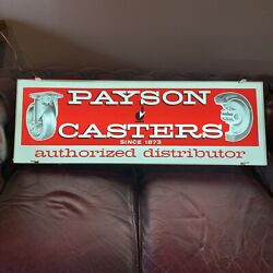 Nos Antique Lighted Casters Advertising Sign