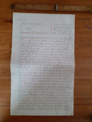 1889 Last Will And Testament Daniel Mcdaniels Frederick County Maryland Usa Seal