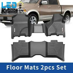 All Weather Floor Mats For 2012-2018 Ram 1500 2500 3500 Crew Cab Bench Seats Set
