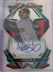 2020 Topps Finest Ichiro On Card Auto Die-cut 10/10 Mariners Fcia-2 Careers