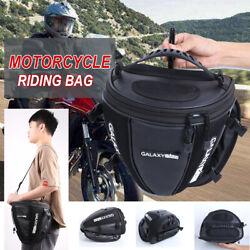 Canvas Leather Motorcycle Motorcross Backpack Racing Riding Hard Shell Bag Us