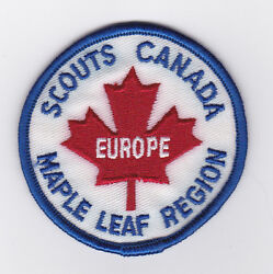 Scouts Of Canada - Canadian Armed Forces Europe Maple Leaf Region Scout Patch