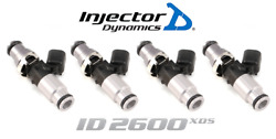 Injector Dynamics 2600-xds Fuel Injector 4pc 60mm For Mazda Miata / Cobalt Ss