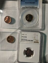 1937-1958 Proof Date Run Lincoln Coin Most Red/brown Cent 1939 1940 1941 1942