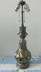 Rare Gagneau Silver Plated Over Bronze Converted Oil To Electric L@@k