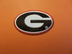 GEORGIA BULLDOGS*NCAA RED amp; BLACK EMBROIDERED IRON ON PATCHES 2 X 3 1 8