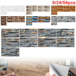 9pcs 3D Self Adhesive Mosaic Tile Sticker Kitchen Bathroom Wall Stickers Decor