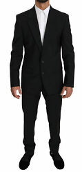 Dolce And Gabbana Suit Martini Black Single Breasted 2 Piece Eu50/us40/l Rrp 2800