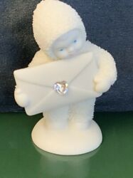 Dept 56 Snowbabies Extra Special Delivery Heart Crystal April