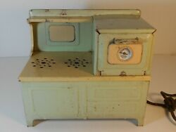 Vintage Metal Toy Electric Stove Needs New Cord Girard Toys