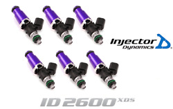 Injector Dynamics 2600-xds Fuel Injector 6pc 60mm For 90-96 Nissan 300zx Tt