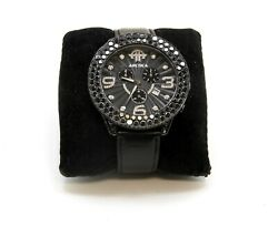 Arctica Menand039s Watch With Black And White Diamonds 14ct 50mm Case