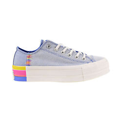 Converse Chuck Taylor All Star Lift Rainbow Ox Womenand039s Shoes Blue-white 564993c