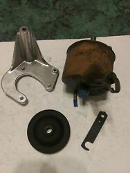 1967+ Ford Big Block 390gt 428cj Power Steering Pump Core, Brackets And Pulley Ag