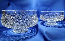 Waterford Crystal Lot 2 Footed Bowls 5 1/2 Comeragh And 7 Giftware Collection
