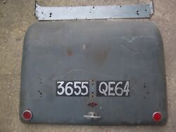 Citroen 2cv Boot Lid Early Bubble Type 1950and039s With Hinge Panel Lock And Key