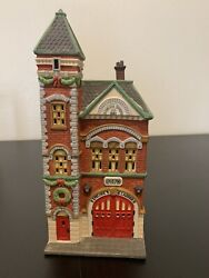 Vintage Dept 56 Christmas In The City Series - 1990 Red Brick Fire Station