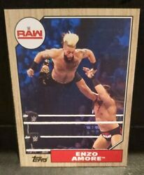 Bronze Border WWE Raw Superstar Enzo Amore #21 Card