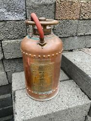 Vintage Fire Extinguisher Read And Campbell Waterloo 1939