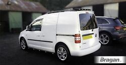 Side Bars + Amber Leds For Vw Caddy Maxi 2010-2015 Polished Stainless Van Black