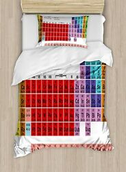 Ambesonne Periodic Table Duvet Cover Set Kids Children Educational Science Chem