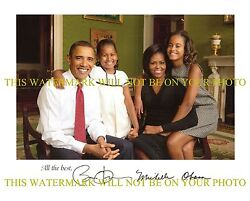 President Barack And Michelle Obama Signed Autograph 8x10 Rpt Publicity Photo