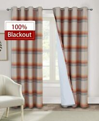 Alexandra Cole 100 Blackout Curtains For Bedroom 95 Inches Long Room Darkening