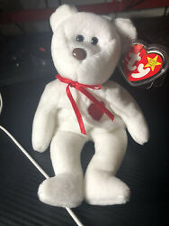 Ty Beanie Babies Rare Valentino Multiple Errors Brown Nose, Misspelled Tag